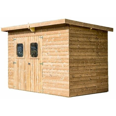Abri THEORA en bois - 6,78 m² - sans plancher - toit mono pente bac acier