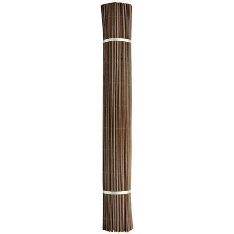 """Canisse synthétique imitation osier marron """"Fency Wick"""" - 1 x 3 m"""