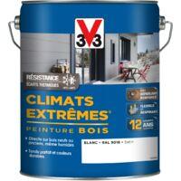 Peinture bois extérieur Climats extrêmes® V33, blanc satiné 5 l