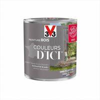 Peinture bois extérieur Couleurs d'ici® V33, gris flotté velours 0.5 l