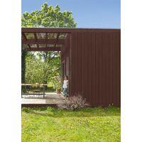 Peinture bois extérieur Couleurs d'ici® V33, rouge sépia velours 0.125 l