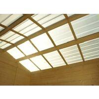 Abri Bois Soleil 6m2 toit translucide