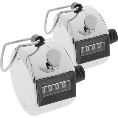 BeMatik - Compteur de personnes manuel à 4 chiffres 2 unités