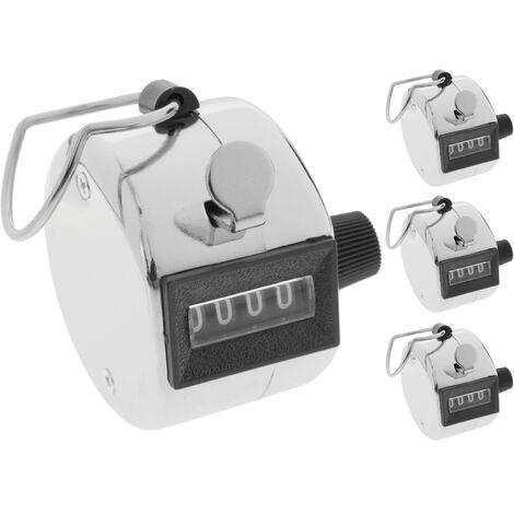 BeMatik - Compteur de personnes manuel à 4 chiffres 4 unités