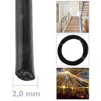 BeMatik - Câble en acier inoxydable de 2 mm. Bobine de 100 m. Plastifié noir