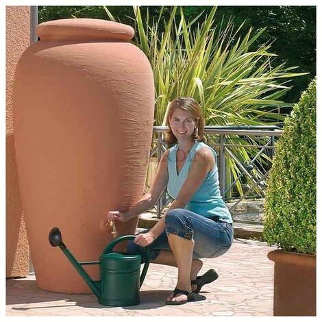 Recuperador de agua decorativo ánfora o muro de piedra