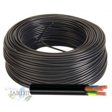 Cable eléctrico manguera 3 hilos, 1 mm2 flexible 75 metros