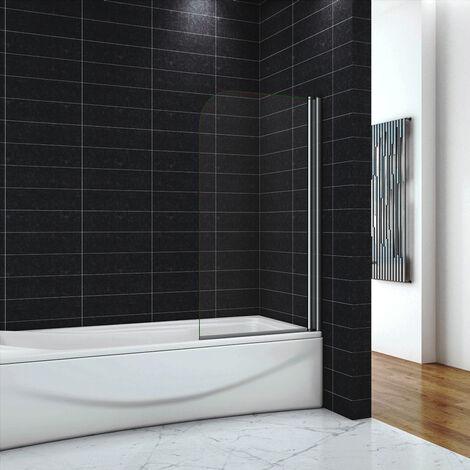 OCEAN Pare-baignoire 80x140cm écran de baignoire 6mm verre anticalcaire