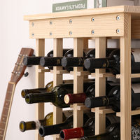 Cantinetta per Vini, Porta Bottiglie Vino, Legno, Non trattato, 46.5 x 27.5 x 113 cm