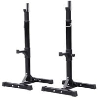 OOBEST Rack Squat Regolabile Per Bodybuilding, Supporto per Bilanciere, Bilanciere Palestra - Nero