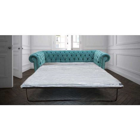 Chesterfield 3 Seater Settee Pimlico Teal Blue SofaBed Offer