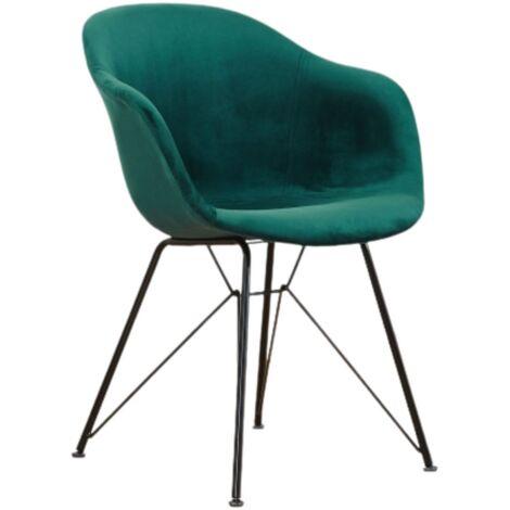 Valentina Velvet Dining Chair (DEEP GREEN)