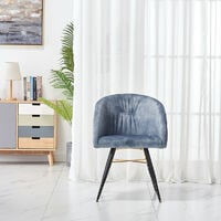 Vittario velvet LUX chair | Padded Cushioned seating | Diamond Stitched Back | Dining Chair | Tufted Velvet Chair | GREY