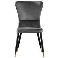 New York Velvet Chair | Living Room | Dining Chair | Modern Velvet Furniture (GREY & GOLD)