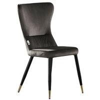 New York Velvet Chair   Living Room   Dining Chair   Modern Velvet Furniture (DARK GREY & GOLD)