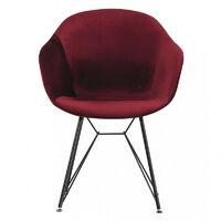 Valentina Velvet Dining Chair (RED)