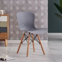 Alessia Halo Round Dining Table Set   4 CHAIR SET   Retro Ribbed Chairs   Dining Table (Oak Table & Grey Chairs)