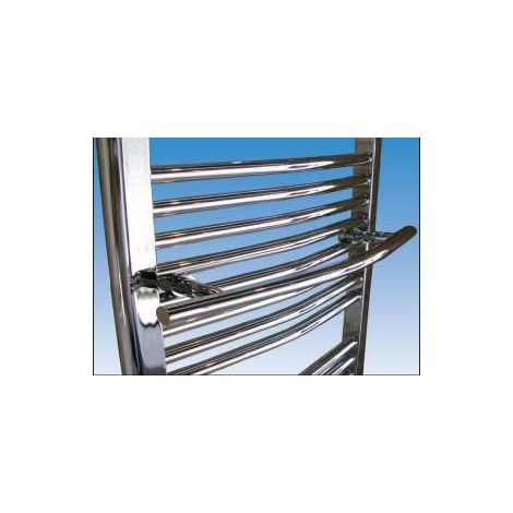 Abacus Radius Towel Hanger White 480mm ELAC-10-30WH
