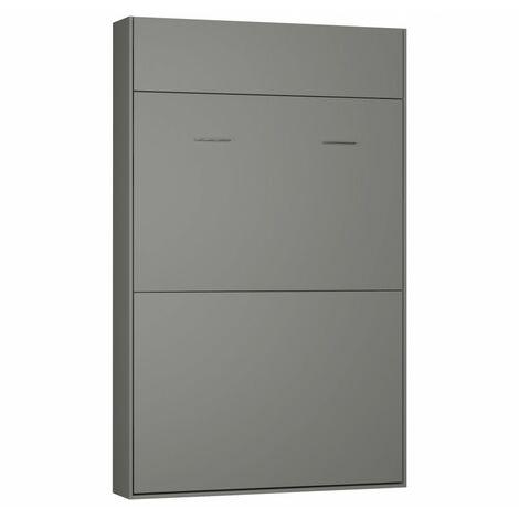 Lit escamotable STUDIO gris graphite mat Couchage 140*200 cm Ouverture assistée et pied automatique - blanc