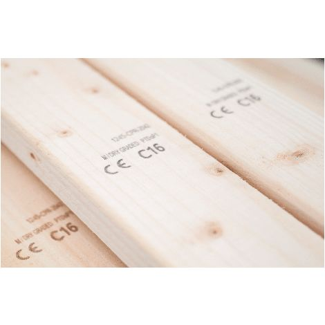 C16 Sawn Timber Floor Joist 72x145mm ( 6x3 Inch) 1.2m Pack of 2