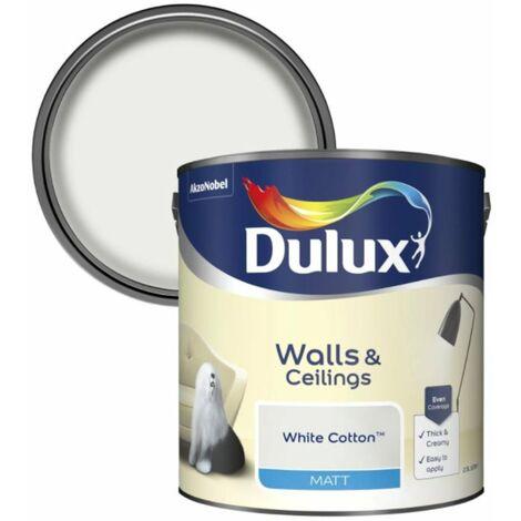 Dulux Matt Emulsion For Walls/Ceilings - White Cotton 2.5L