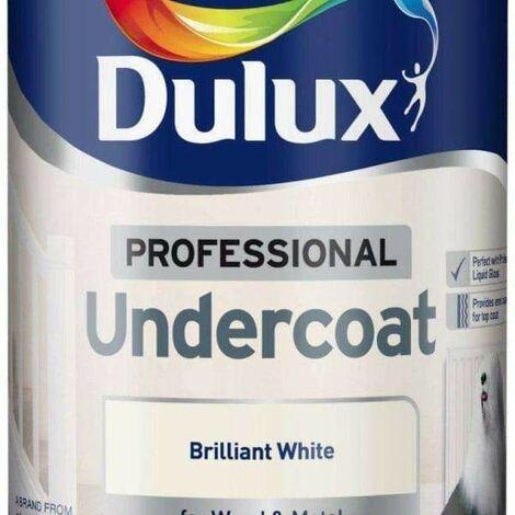 Dulux Professional Undercoat Paint Brilliant White - 750ml