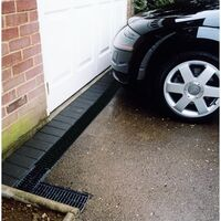 ACO HexDrain Channel with Grating 1m - Black Plastic