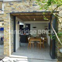 Handmade Weathered London Stock Brick Slip Tiles - Box of 10 External Corners