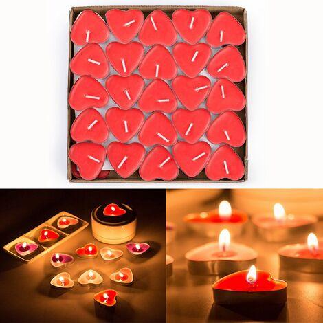 Candela Candele Profumata 30 Pezzi Forma Cuore Piccole Atmosfera Romantica Per Decorazione Casa Eventi Festa Party