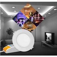 MiBoxer Mi-Light Plafoniera da Incasso 6W RGB+CCT WiFi FUT068 Foro 95mm