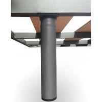 Somier 80x180 Cm Tubo Acerado 40x30 mm Laminas Anchas con Sistema Anti-ruido. Patas No Incluidas.