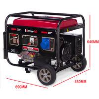 Böhmer-AG AG-9000WE - 8500w Heavy-Duty Petrol Generator - Electric Key Start Portable Power