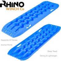 Rhino Winch - Recovery Tracks, 4x4 10t Off Road Traction Boards Sand / Mud / Snow Blue