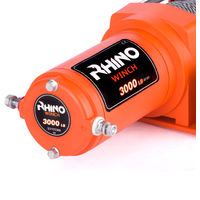 Rhino Winch - Electric Winch 12v, 3,000lb / 1360Kg - Two Wireless Remotes - Steel Cable