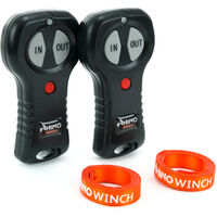 Rhino Winch - Electric Winch 12v, 3,000lb / 1360Kg - Two Wireless Remotes - Synthetic Rope - Black Edition