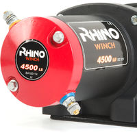 Rhino Winch - Electric Winch 12v, 4,500lb / 2040Kg - Two Wireless Remotes - Steel Cable