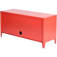 Generic C cabinet or door, filing cabinet, 3-drawer organizer, metal storage organizer, console stand, red color