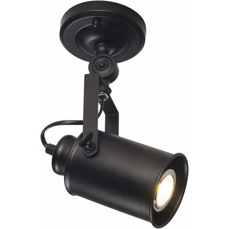 Vintage Industrial Aplique de Pared Loft Rústico Aplique de Pared Lámpara de Techo Foco Moderno Foco Nocturno Fresco Lámpara Retro Negro E27 Sin Bombillas