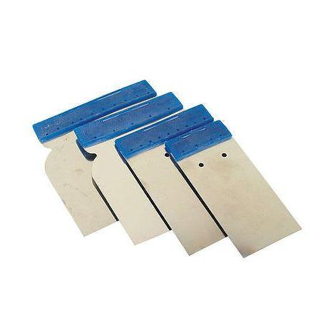 kit 4 spatules japonaise inox couteau mastic enduits  peinture auto APP