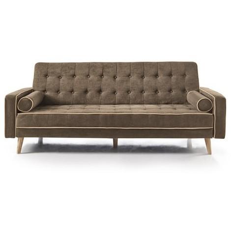 Sofa cama Click Clack, 3 plazas, color Gris Ocuro o Marrón, ref-04