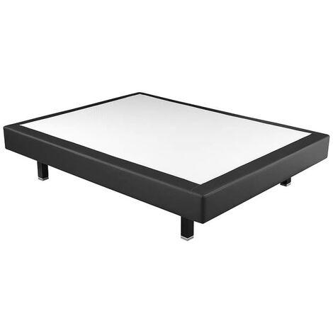 Canapé colchón fijo pikolin tela poli-piel altura 17 cm   Negro - 80x190cm