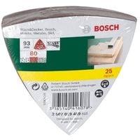 BOSCH 2607019489 LOT DE FEUILLES ABRASIVES POUR PONCEUSE DELTA GRAIN 80 25 PIÈCES