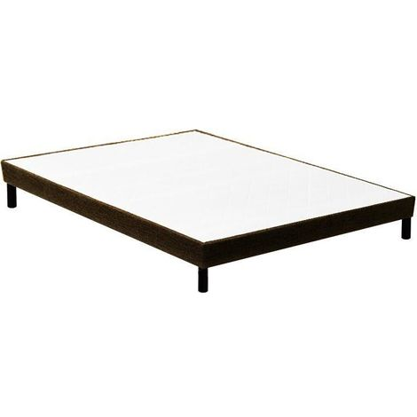 Sommier Essenzia Déco Marron 80x190 STRETCH - Blanc