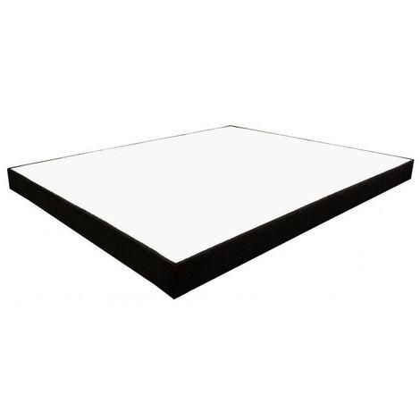 Sommier Essenzia Déco Noir 120x190 STRETCH - Blanc