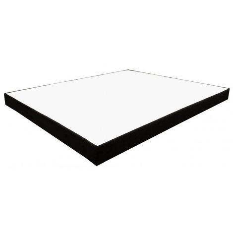 Sommier Essenzia Déco Noir King Size 180x190 STRETCH - Blanc
