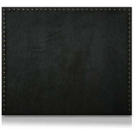 Cabecero Apolo Tapizado Nido Antimanchas Negro de SonnoMattress 90X120x8cm