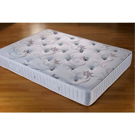 Somnior Rest Sprung Memory Foam Tufted Mattress Single (90 x 190cm)