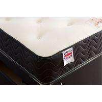 Topaz Sprung Memory Foam Divan bed No Drawer No Headboard Single