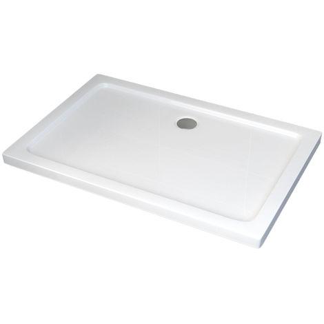 Plato de ducha rectangular - 120 x 80 cm y sistema de desagüe