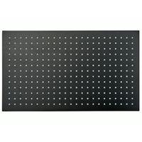 Cabezal de ducha rectangular, extra-plano de acero inoxidable DPG2051 - 50 x 30 cm - negro